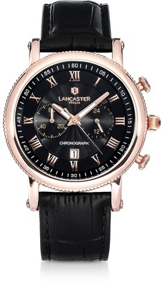 Lancaster Monarch Chronograph Rose Gold Stainless Steel Watch