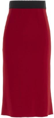Dolce & Gabbana Midi Flounce Skirt