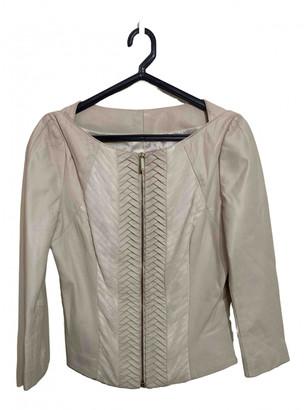 Elisabetta Franchi Ecru Leather Jackets