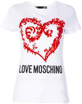 Love Moschino heart logo T-shirt