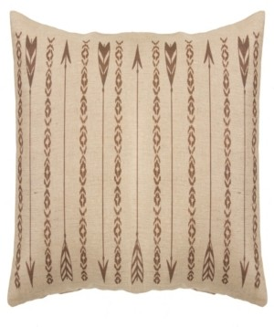 HiEnd Accents Long Rectangles and Arrows 15x35 Burlap Pillow Bedding