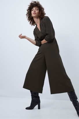 French Connection Evelia Drape Balloon Sleeve Jumpsuit