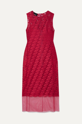 Akris Embroidered Tulle And Silk Dress - Pink