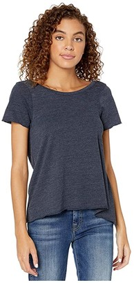 Chaser Tri-Blend Short Sleeve Scoop Back Flouncy Tee (Major) Women's Clothing