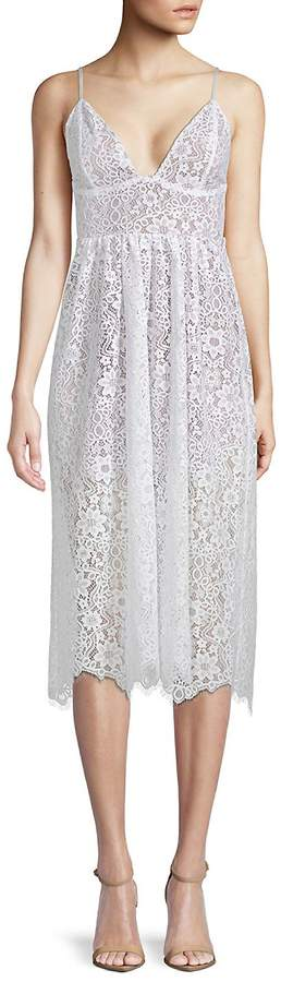 For Love & Lemons Women's Botanic Lace Midi Dress