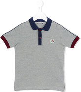 Moncler contrast collar polo shirt - kids - Cotton - 4 yrs