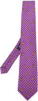 Etro animal-print checked tie - men - Silk - One Size