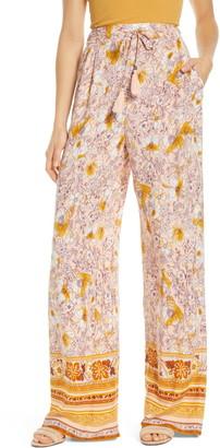 Band of Gypsies Moorea Floral Wide Leg Pants