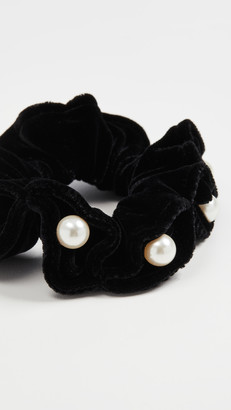 Alexandre de Paris Black Pearl Scrunchie
