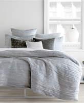 "DKNY City Pleat Gray 16"" x 20"" Decorative Pillow"