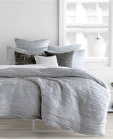 DKNY City Pleat Gray King Duvet Cover Bedding