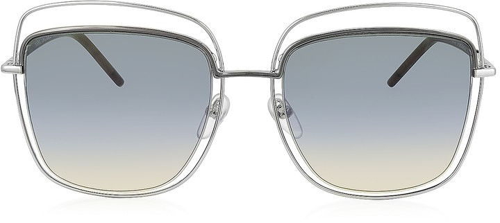 Marc Jacobs MARC 9/S TYYB0 Silver Metal Square Oversized Women's Sunglasses