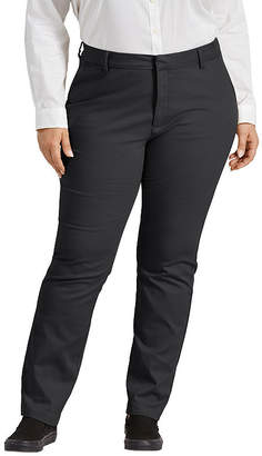 Dickies Perfect Shape Bootcut Twill Womens Mid Rise Slim Pant-Plus