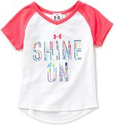 Under Armour Baby Girls 12-24 Months Shine On Short-Sleeve Tee