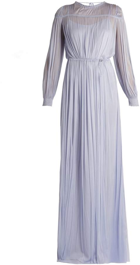 Amanda Wakeley Fluidity silk-tulle sheer dress