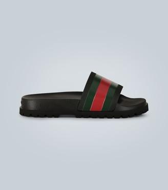 Gucci Striped Web slide sandals