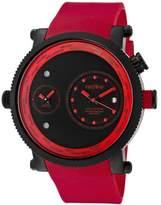 Redline Red Line rl-50037-bb-01-rd – Watch Men – Quartz Chronograph Rubber Strap Red