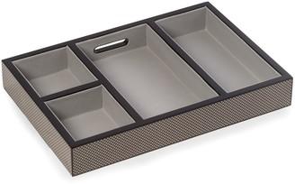 Bey-Berk Lacquered Carbon-Fiber Open-Face Valet Box