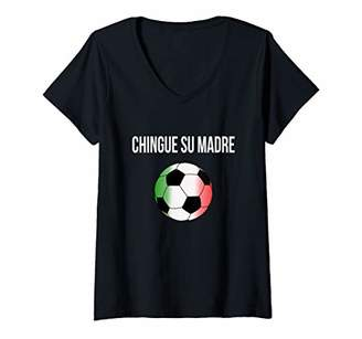 Womens Chingue Su madre mexican celebracion for being the champion V-Neck T-Shirt