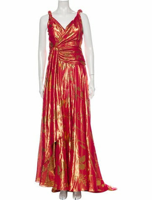 Oscar de la Renta 2019 Long Dress w/ Tags Metallic