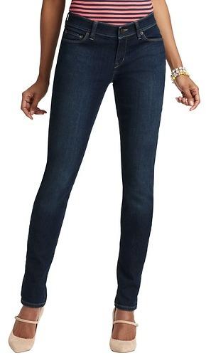 LOFT Tall Curvy Skinny Jeans in Dark Autumn Indigo