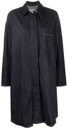 MM6 MAISON MARGIELA Contrast-Stitching Denim Shirt Dress