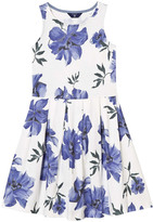 Gant White and Blue Floral Sleeveless Dress
