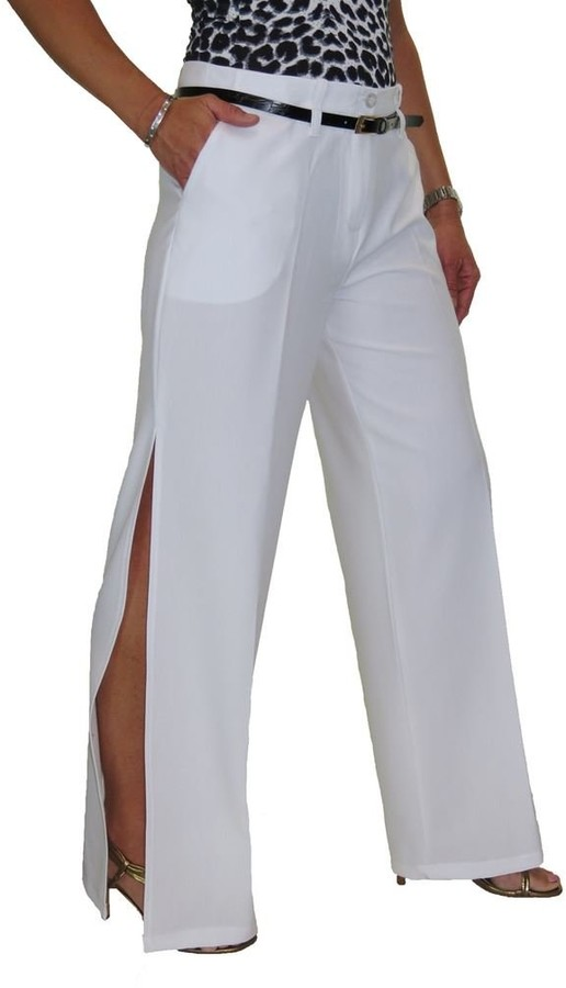 icecoolfashion Womens Wide Leg Smart Trousers Ladies Loose Fit Office Work Pants