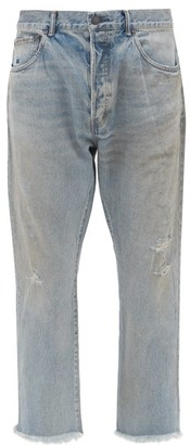 John Elliott The Kane Straight-leg Jeans - Mens - Light Blue