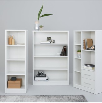 Home Essentials -Metro 3 Piece Storage Bookcase Package - White