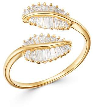 Bloomingdale's Baguette Diamond Feather Ring in 14K Yellow Gold, 0.45 ct. t.w. - 100% Exclusive