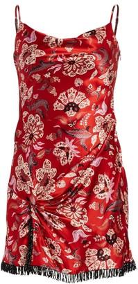Cinq à Sept Avalyn Floral Silk Mini Dress