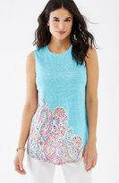 J. Jill Portofino Linen-Knit Tank
