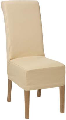 OKA Echo Dining Chair - Weathered Oak & Cotton Slip Cover - Oatmeal