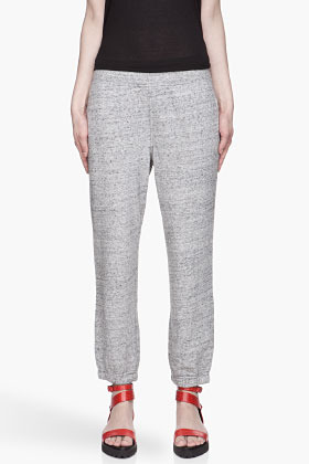 Alexander Wang Heather grey speckled Nep French Terry Sweatpants