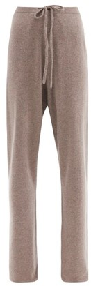 Extreme Cashmere - No.142 Run Stretch-cashmere Wide-leg Track Pants - Mid Brown