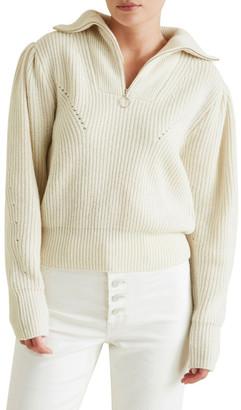 Seed Heritage Zip Through Puff Sweater