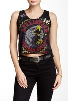 Affliction AC Wild Raw Edge Cropped Tee