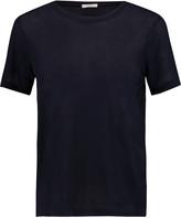 Clu Silk chiffon-trimmed cotton-jersey T-shirt