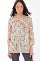 J. Jill Rayon Voile Shirred Top
