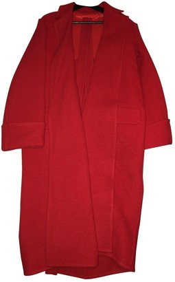Helmut Lang Red Wool Coats
