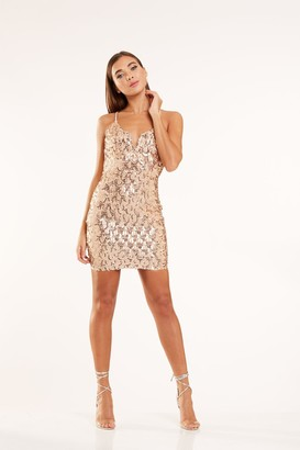 Candypants Outlet Rose Gold Sequin Dress