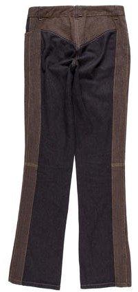 Alexander McQueen Embroidered Straight-Leg Jeans