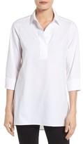 Foxcroft Petite Women's Non-Iron Stretch Cotton Tunic