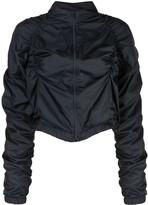 Fantabody ruched bomber jacket