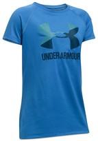 Under Armour Girls' Big Logo Tech Tee - Little Kid, Big Kid