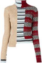 Maison Margiela contrast panel sweater - women - Cotton/Acrylic/Polyamide/Wool - M
