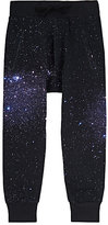Munster Galaxy-Print French Terry Jogger Pants-NAVY