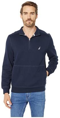 Nautica 1/4 Zip Fleece Pullover (Blue 1) Men's Clothing