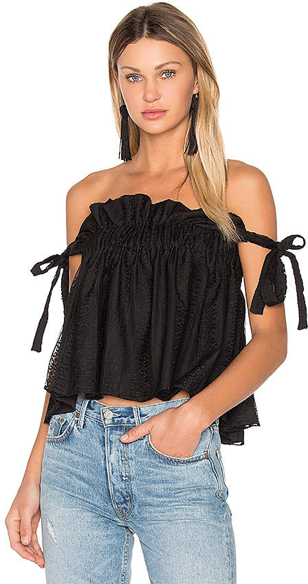 Shona Joy Moliere Ruched Top in Black. - size Aus 10/US 6 (also in )